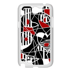 Artistic abstraction Samsung Galaxy Note 2 Case (White)