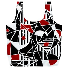 Artistic abstraction Full Print Recycle Bags (L)