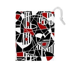 Artistic abstraction Drawstring Pouches (Large)