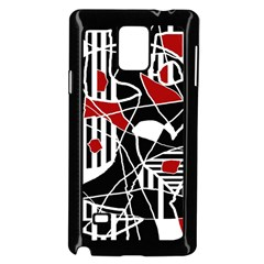 Artistic abstraction Samsung Galaxy Note 4 Case (Black)