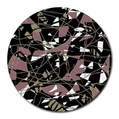 Artistic abstract pattern Round Mousepads