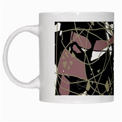 Artistic abstract pattern White Mugs