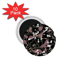 Artistic abstract pattern 1.75  Magnets (10 pack)