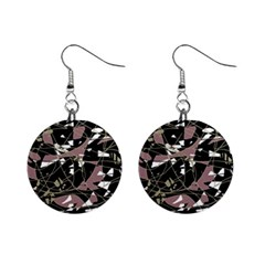 Artistic abstract pattern Mini Button Earrings
