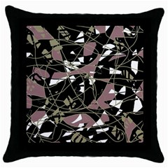 Artistic abstract pattern Throw Pillow Case (Black)
