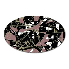 Artistic abstract pattern Oval Magnet