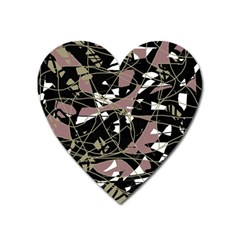 Artistic abstract pattern Heart Magnet