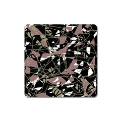 Artistic abstract pattern Square Magnet
