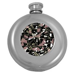 Artistic abstract pattern Round Hip Flask (5 oz)