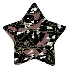 Artistic abstract pattern Star Ornament (Two Sides)