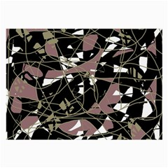 Artistic abstract pattern Large Glasses Cloth