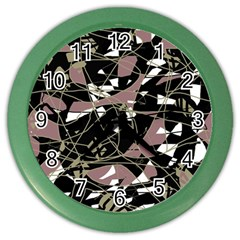 Artistic abstract pattern Color Wall Clocks