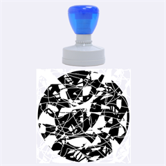 Artistic abstract pattern Rubber Round Stamps (Large)