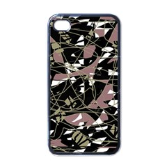 Artistic abstract pattern Apple iPhone 4 Case (Black)