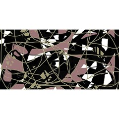 Artistic abstract pattern YOU ARE INVITED 3D Greeting Card (8x4)