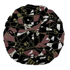 Artistic Abstract Pattern Large 18  Premium Round Cushions