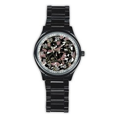 Artistic abstract pattern Stainless Steel Round Watch