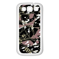 Artistic abstract pattern Samsung Galaxy S3 Back Case (White)