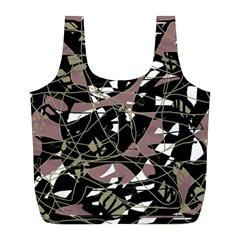 Artistic abstract pattern Full Print Recycle Bags (L)