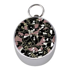 Artistic abstract pattern Mini Silver Compasses