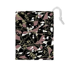 Artistic abstract pattern Drawstring Pouches (Large)