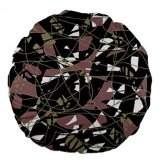 Artistic abstract pattern Large 18  Premium Flano Round Cushions