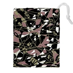 Artistic abstract pattern Drawstring Pouches (XXL)