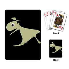 Kangaroo Playing Card