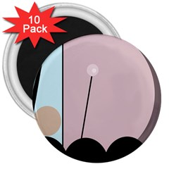 Abstract design 3  Magnets (10 pack)