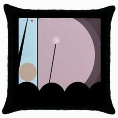 Abstract design Throw Pillow Case (Black)