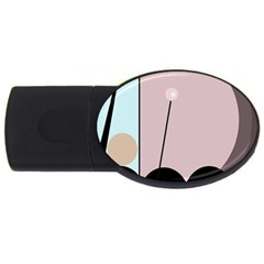 Abstract design USB Flash Drive Oval (2 GB)