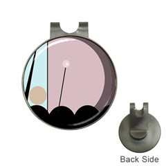 Abstract design Hat Clips with Golf Markers