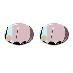 Abstract design Cufflinks (Oval)