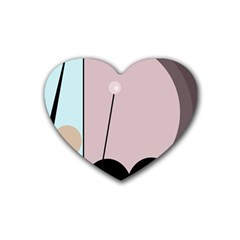 Abstract design Heart Coaster (4 pack)