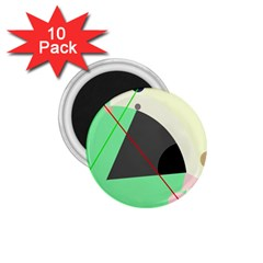 Decorative abstract design 1.75  Magnets (10 pack)