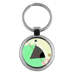 Decorative abstract design Key Chains (Round)