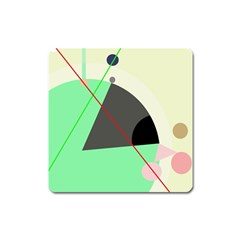 Decorative abstract design Square Magnet