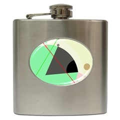 Decorative abstract design Hip Flask (6 oz)