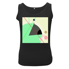 Decorative abstract design Women s Black Tank Top