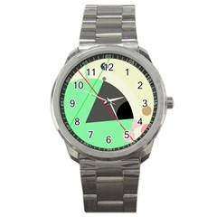 Decorative abstract design Sport Metal Watch