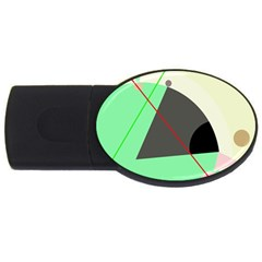 Decorative abstract design USB Flash Drive Oval (4 GB)