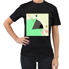 Decorative abstract design Women s T-Shirt (Black)