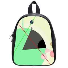 Decorative abstract design School Bags (Small)