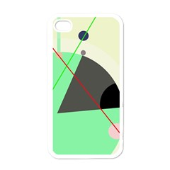 Decorative abstract design Apple iPhone 4 Case (White)