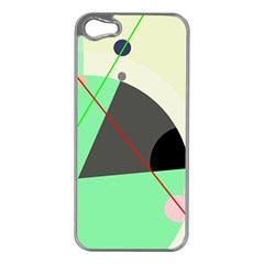 Decorative abstract design Apple iPhone 5 Case (Silver)