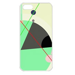 Decorative abstract design Apple iPhone 5 Seamless Case (White)