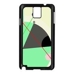 Decorative abstract design Samsung Galaxy Note 3 N9005 Case (Black)