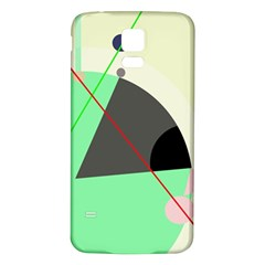 Decorative abstract design Samsung Galaxy S5 Back Case (White)