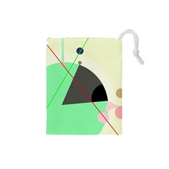 Decorative abstract design Drawstring Pouches (Small)