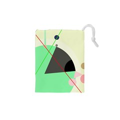 Decorative abstract design Drawstring Pouches (XS)